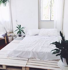 wooden crate bed