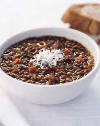 Lentil and Garlic-Sausage Soup Recipe on Food & Wine