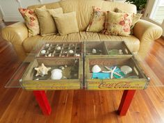 20 DIY Display Case (Shadowbox) Coffee Tables