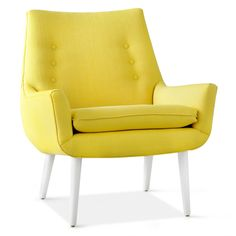 Jonathan Adler Mrs. Godfrey Chair In Stockholm Canary in Chairs