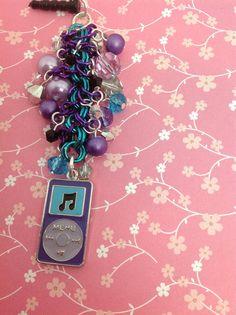 Purple ipod cell phone charm dust plug dust by PmBSparklesLinks, $18.00