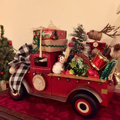 SOLD - Excited to share this item from my shop: Little Red Truck Centerpiece, Farmhouse Red Truck, Christmas Little Red Truck, Vintage Red Truck Decor, Christmas Centerpiece Farmhouse Christmas Decor, Rustic Christmas, Vintage Christmas, Christmas Christmas, Xmas, Diy Christmas Garland, Christmas Decorations, Vintage Red Truck Decor, Christmas Red Truck