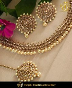 Champagne Stone Choker with Stud & Tika by Punjabi Traditional Jewellery You may also DM us OR conta