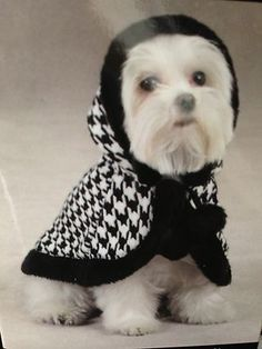 Too Cute Houndstooth Dog Cape