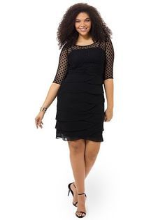 Ruched Waist Dress With Artichoke Skirt by Jessica Howard, Available in sizes 10/12,14W/16W,18W/20W/22W and 24W