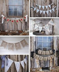 Burlap banner with hearts, and ribbon on sides :) Fun Crafts, Diy And Crafts, Paper Crafts, Cute Banners, Burlap Banners, Fabric Banners, Thanksgiving Banner, Bunting Garland, Diy Wedding