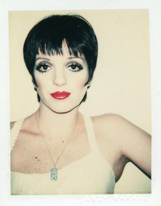 Liza, polaroid taken by Warhol.