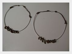 jewel/ handmade/ necklaces/ 925 silver, pearl, hazelnut