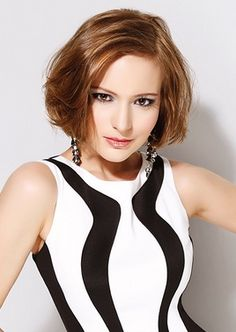 WigYouUp.com Everyday Tips - Hottest Haircuts  This chin-length bob, with its golden-brown hue and deep side part, is the perfect vehicle for accentuating dark and sensuous eyes.  http://www.wigyouup.com/