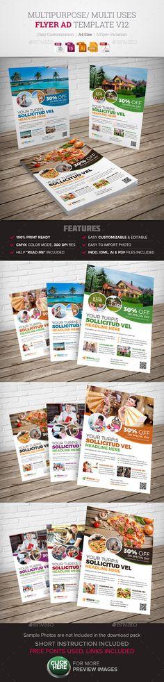 Travel Agency DL Flyer \ Postcard InDesign Brochures, Printing - house for sale flyer template