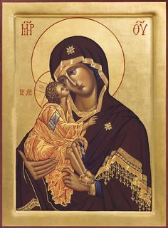 Orthodox Arts Journal - first online journal of its kind that specifically focuses on the whole of traditional arts in the Orthodox Church.  Above. The Theotokos of the Don Egg tempera panel icon with natural pigments (including ochres from the Forest of Dean in England and Lapis lazuli from Afghanistan) and 24 carat gold, 2011