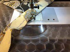 Jelly Roll Mug Rug Pattern Tutorial (Honeybee Theme)   Needlepointers.com Mug Rug Tutorial, Mug Rug Patterns, Quilt Binding, Straight Stitch, Fabric Strips, Mug Rugs, Jelly, Free Pattern, Mugs