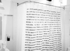 A shower curtain short story by Dave Eggers | 30 Totally Unique Ways To Decorate Your Home With Books