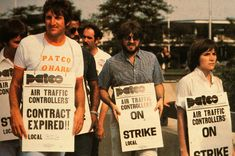 August 3, 1981:  Members of the Professional Air Traffic Controllers Organization (PATCO) go on strike for a shorter work week, increased wages, and better working conditions.  Newly elected President Ronald Reagan threatened to fire anyone who didn't return to work within 48 hours.  Most stayed out and on August 5, Reagan fired more than 11,000 workers.