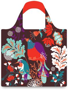 LOQI - Reusable bags - Collection FOREST - Bird