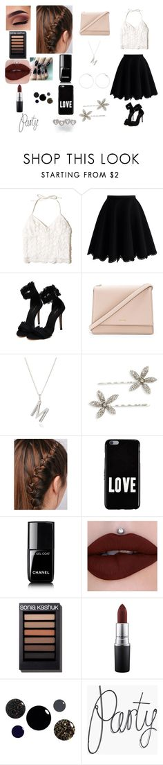 """Melissa Party #3"" by gabilovegood ❤ liked on Polyvore featuring Hollister Co., Chicwish, Kate Spade, Rachel Jackson, Jennifer Behr, Givenchy, Chanel and MAC Cosmetics"