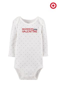 Tell everyone whose special valentine she is with this sweet Valentine's Day bodysuit from Just One You made by Carter's. Sprinkled with silvery dots, it'll help make the day extra special.