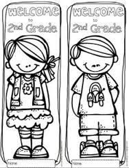 back to school activities free welcome to ______ grade pre k through grade bookmarks note cards or coloring page lots of options - First Day Of School Coloring Page