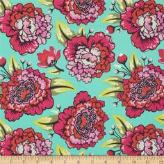 """Astraea"" in Tart from the Elizabeth collection by Tula Pink -- premium woven cotton fabric Tula Pink Fabric, Textile Texture, Amazon Art, Fabric Design, Tart, Sewing Crafts, Quilts, Woven Cotton, Cotton Fabric"