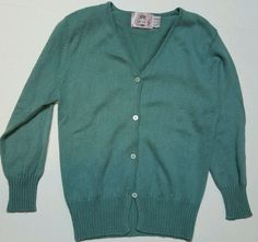Tocca Size Small Silk Cashmere Green Button Cardigan Button Down 3/4 Sleeve  #TOCCA #Cardigan #Casual