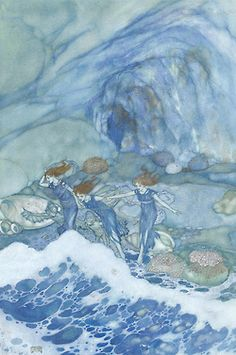 fleurdulys:  And ye that on the sands, with printless foot do chase the ebbing Neptune.- Edmund Dulac