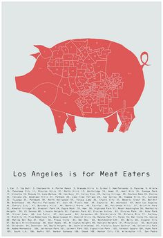 meat map of L.A. by Alyson Thomas