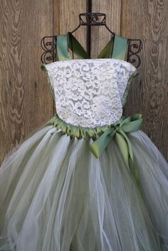 flower girl dress... with orange instead of green! too cute!! @Brittany Gault