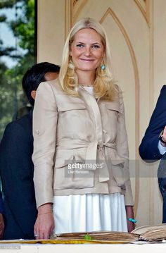 Crown Princess Mette-Marit of Norway smiles during her visit at Yogyakarta Kraton Palace on November 28, 2012 in Yogyakarta, Indonesia. The four-day visit of the Royal Norwegian couple is intended to strengthen the relationship between the two countries, specifically in the areas of business and environment.