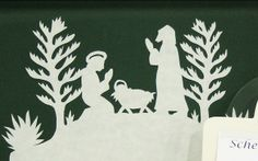 Paper cutting Nativity - table decorations by tsayrate, via Flickr