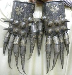 Bear Paw Armor Cuprum Arm Guard, Indo Persian Islamic Empire Dynasty