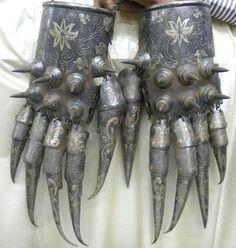 Bear Paw Armor Cuprum Arm Guard, Indo Persian Islamic Empire Dynasty