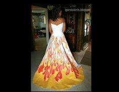 Firefighter wedding dress