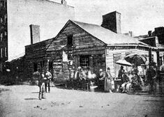 "If you've ever seen the movie, ""The Gangs of New York"":   This picture is the real Five Points in NYC, 1852."