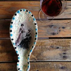 Hand crafted ceramic spoon rest