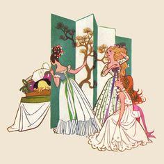 Golden Book The Twelve Dancing Princesses illustrated by Sheilah Beckett (1954