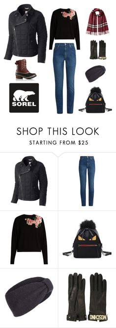 """""""Tame Winter with SOREL: Contest Entry"""" by oceanecarrico ❤ liked on Polyvore featuring SOREL, Alexander McQueen, Dolce&Gabbana, Fendi, Tasha, Moschino, Burberry and sorelstyle"""