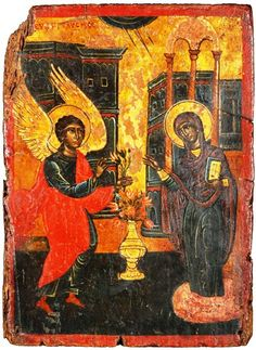 The Annunciation. Life Of Christ, Orthodox Icons, Christian Art, Byzantine, 17th Century, Greek, Painting, Collection, Catholic Art