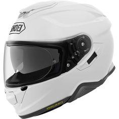 Κράνος #Shoei GT-Air II White Shoei Motorcycle Helmets, Shoei Helmets, Dafy Moto, Shell Structure, Aftermarket Motorcycle Parts, Wind Tunnel, Enduro, Full Face Helmets, Ventilation System