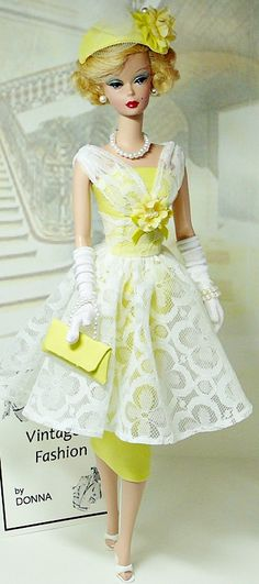 Yellow Vintage Fashion by Donna's Doll Designs