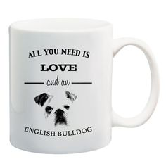 This sturdy white, glossy ceramic mug is an essential to your cupboard. Looking for the perfect gift for an English Bulldog lover? Search no more. This brawny v