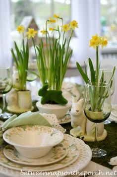 Spring- Easter Table Setting with