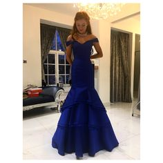 Mermaid style dress from @redcarpetready lincoln #mermaiddress #mermaid #ginger #royalblue #ballgown #princess #gorgeous #stunning #pinme #love #girly #goodvibes