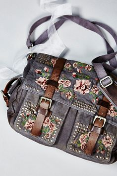 e91bf7d860 Bed Of Roses Messenger at Free People Clothing Boutique Oooh it s so  pretty! Would be a perfect concert bag.
