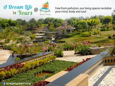 A Dream Life is yours at Pragati #Green -  Free from pollution, our living spaces revitalize your mind, body and soul. Get in touch with us for availability of #Plots and #Homes. http://www.pragatigreenliving.com/