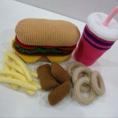 crochet fast food @Janine Hardy Hardy Worthington