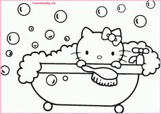 Coloring Pages For Kids Hello Kitty 1024x728