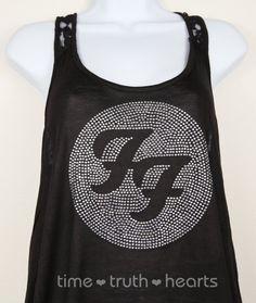 Foo Fighters rhinestone tank  Etsy