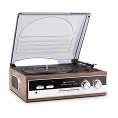 Tocadiscos años 60 - 70 con Radio Analógica lateral