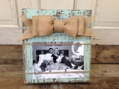 Rustic Mint Picture Frame Distressed Wood by SouthernFarmhouse