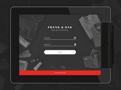 Dribbble - Login Page by Adrian Balkwill